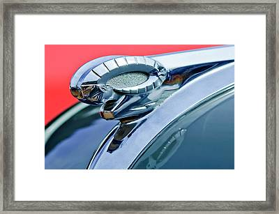 1950 Dodge Coronet Hood Ornament Framed Print by Jill Reger