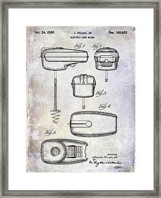 1950 Electric Hand Mixer Patent Framed Print