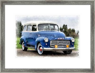 1950 Gmc Carryall Suburban 100 Framed Print by Edward Fielding