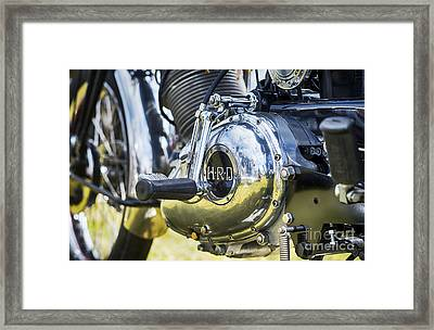 1950 Hrd Vincent Series B Meteor Abstract Framed Print