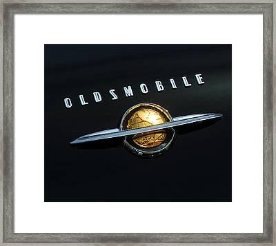 1950 Oldsmobile Rocket 88 Convertible Emblem Framed Print by Jill Reger