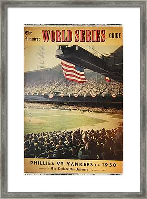 1950 Phillies Vs Yankees World Series Guide Framed Print