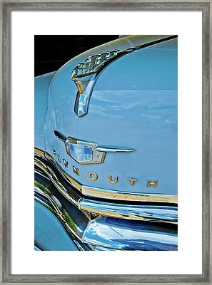 Framed Print featuring the photograph 1950 Plymouth Coupe by Linda Unger