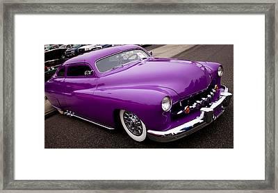 1950 Purple Mercury Framed Print by David Patterson
