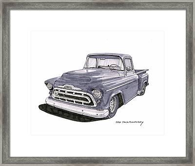 1950 S G M C Pick Up Truck Framed Print by Jack Pumphrey
