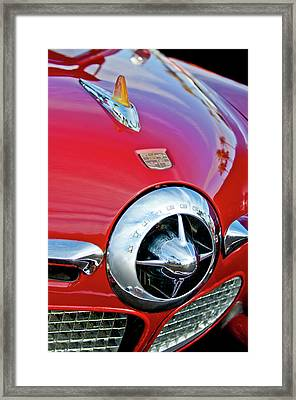 1950 Studebaker Champion Hood Ornament Framed Print by Jill Reger