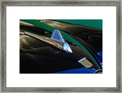 1950 Studebaker Custom Convertible Hood Ornament Framed Print by Jill Reger