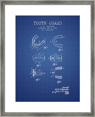 1950 Tooth Guard Patent Spbx16_bp Framed Print