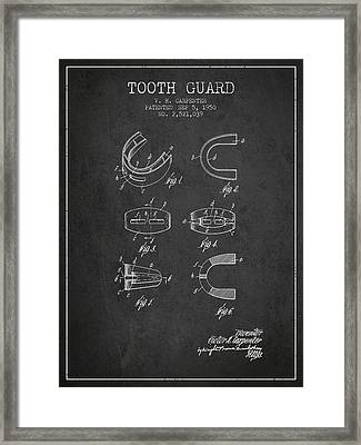 1950 Tooth Guard Patent Spbx16_cg Framed Print by Aged Pixel