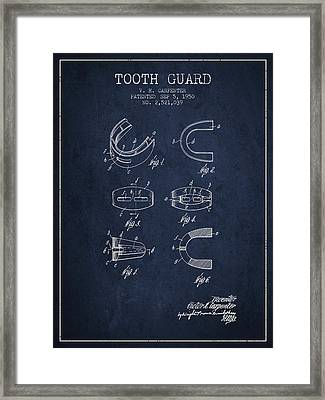 1950 Tooth Guard Patent Spbx16_nb Framed Print