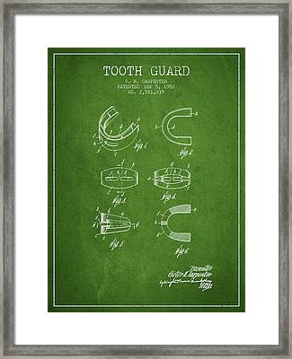 1950 Tooth Guard Patent Spbx16_pg Framed Print