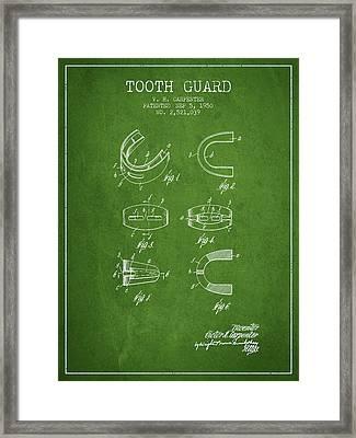 1950 Tooth Guard Patent Spbx16_pg Framed Print