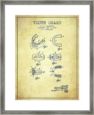 1950 Tooth Guard Patent Spbx16_vn Framed Print