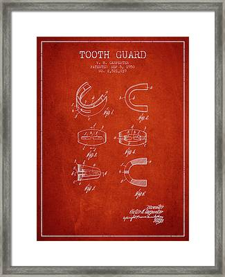 1950 Tooth Guard Patent Spbx16_vr Framed Print by Aged Pixel