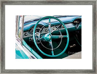 Framed Print featuring the photograph 1955 Chevrolet Bel Air by M G Whittingham