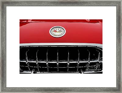 Framed Print featuring the photograph 1959 Corvette by M G Whittingham