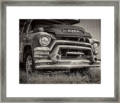 1950s Gmc 370 Framed Print by Jon Woodhams