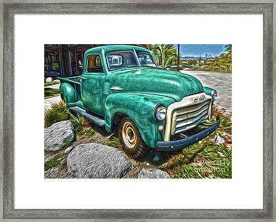 Framed Print featuring the painting 1950s Gmc Truck by Gregory Dyer