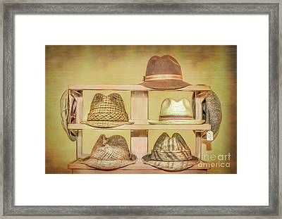 1950s Hats Framed Print