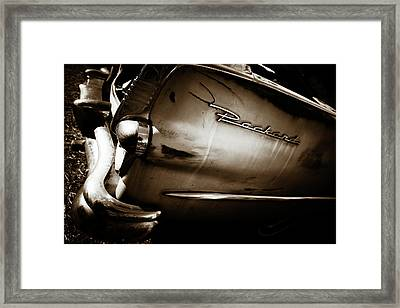 Framed Print featuring the photograph 1950s Packard Tail by Marilyn Hunt