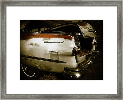 Framed Print featuring the photograph 1950s Packard Trunk by Marilyn Hunt