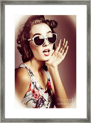 1950s Surprise Framed Print by Jorgo Photography - Wall Art Gallery