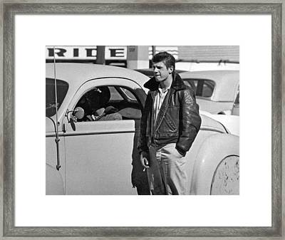 1950s Teenager With A Hot Rod Framed Print by Underwood Archives