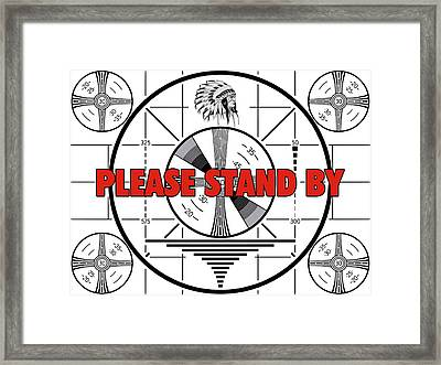 1950's Tv Test Pattern Framed Print