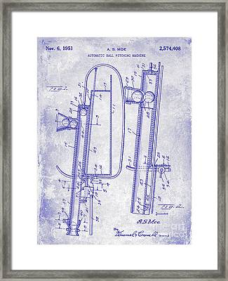1951 Baseball Pitching Machine Patent Blueprint  Framed Print