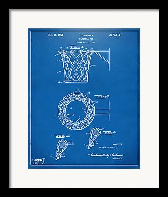 Basket Ball Game Drawings Framed Prints