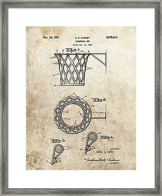 1951 Basketball Net Patent Framed Print