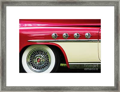Framed Print featuring the photograph 1951 Buick Roadmaster Fender by Tim Gainey