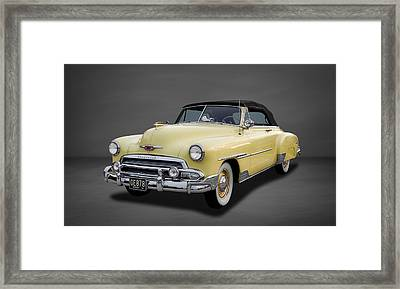 1951 Chevrolet Deluxe Convertible  -  3 Framed Print by Frank J Benz