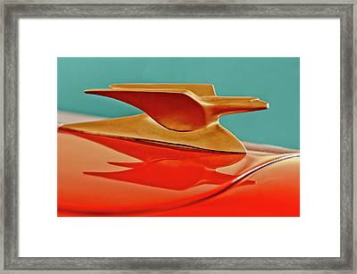 1951 Crosley Hot Shot Hood Ornament 2 Framed Print by Jill Reger