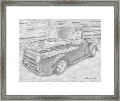 1951 Dodge Pickup Truck Art Print Framed Print by Stephen Rooks