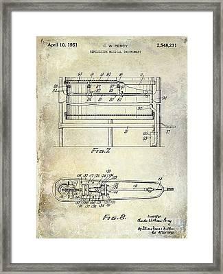 1951 Drum Patent  Framed Print