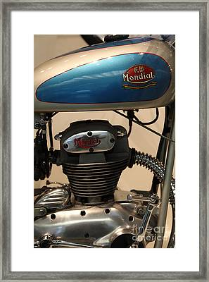 1951 Fb Mondial 125cc Turismo . 5d16994 Framed Print by Wingsdomain Art and Photography