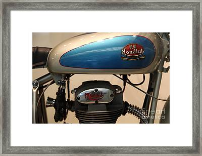 1951 Fb Mondial 125cc Turismo . 5d16995 Framed Print by Wingsdomain Art and Photography