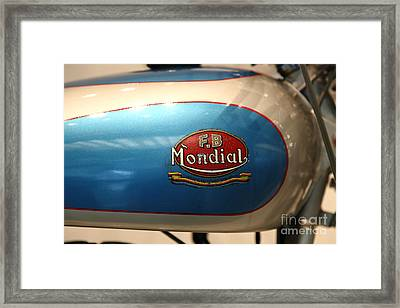 1951 Fb Mondial 125cc Turismo . 5d17018 Framed Print by Wingsdomain Art and Photography