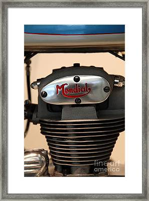 1951 Fb Mondial 125cc Turismo . 5d17056 Framed Print by Wingsdomain Art and Photography