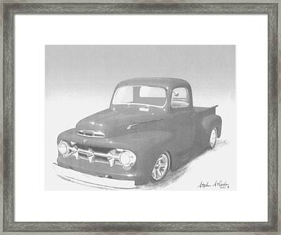 1951 Ford Pickup Truck Art Print Framed Print by Stephen Rooks
