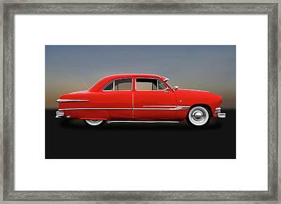 1951 Ford Tudor Sedan  -  1951fdtudorsed9445 Framed Print
