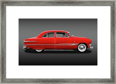 1951 Ford Tudor Sedan  -  1951fordtudorsedfa9445 Framed Print by Frank J Benz