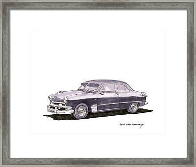 1951 Ford Two Door Sedan Framed Print by Jack Pumphrey