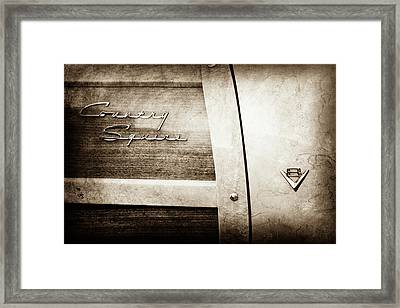 1951 Ford Woodie Country Squire Emblem -251s Framed Print by Jill Reger
