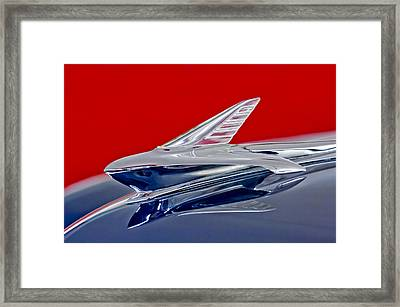 1951 Ford Woodie Hood Ornament Framed Print by Jill Reger