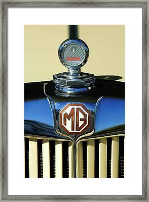 1951 Mg Td Messko Thermometer Hood Ornament Framed Print