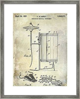 1951 Percussion Patent Framed Print