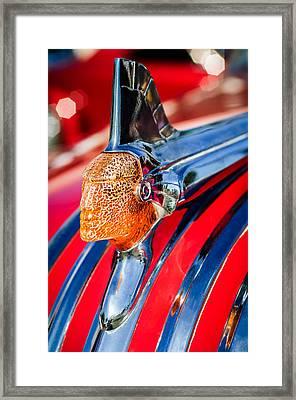 1951 Pontiac Chief Hood Ornament Framed Print by Jill Reger
