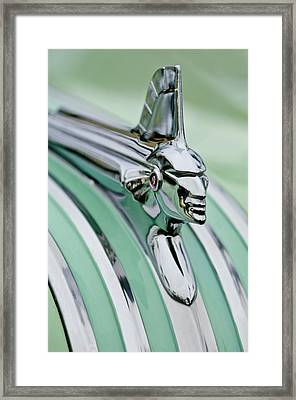 1951 Pontiac Streamliner Hood Ornament 3 Framed Print by Jill Reger